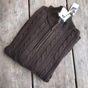 Daniel Cremieux Classics Brown Cableknit Sweater